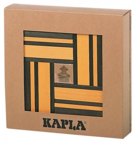 Kapla Farbe 40er Box + Kunstbuch (gelb/grün)